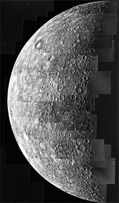 Mariner 10 photos of Mercury