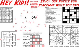 Puzzle Fun Placemat