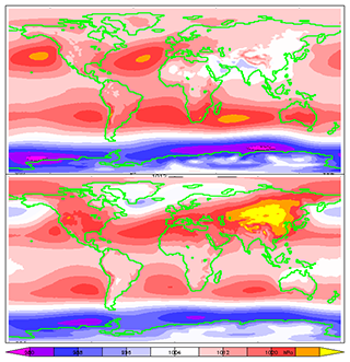 Average air pressure on Earth