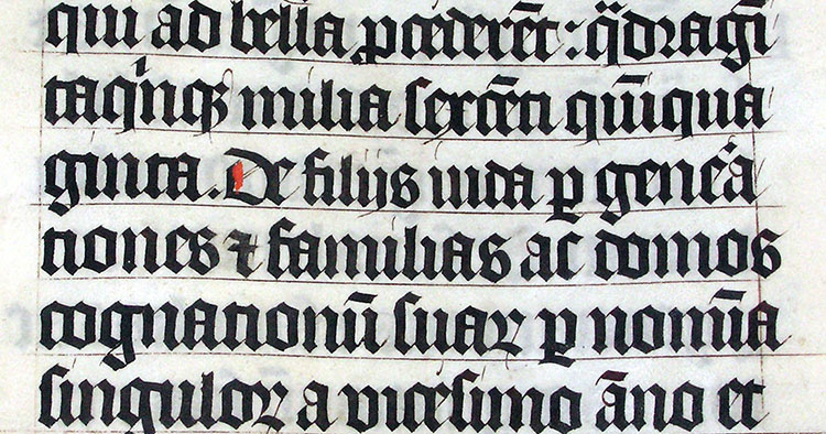 blackletter sample